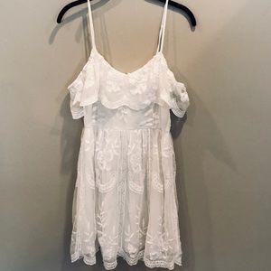 Honey Punch Strapless Lace Dress, Sz M